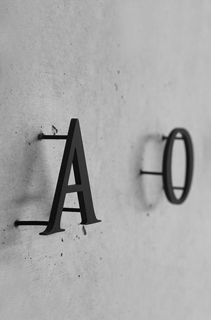 A&O 2D letter mounted on the wall