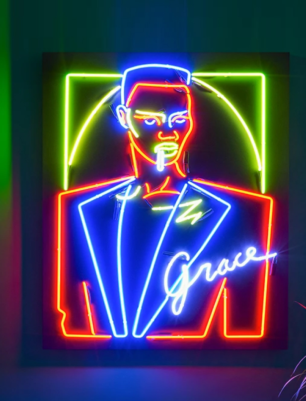 Man custom Neon sign