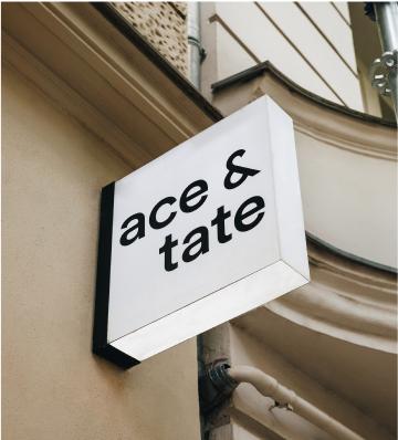 Ace & Tate custom Lightbox