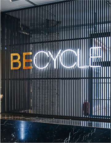 BECYCLE custom 3D Letters + custom Neon sign