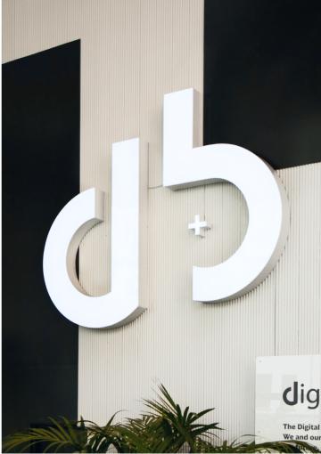 D+B custom 3D Letters