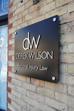 """Pre-mounted 2D Letters with the """"DW Personal Law"""" sign"""