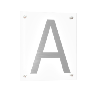 """Technical drawing of the pre mounted plate product with the letter """"A""""."""