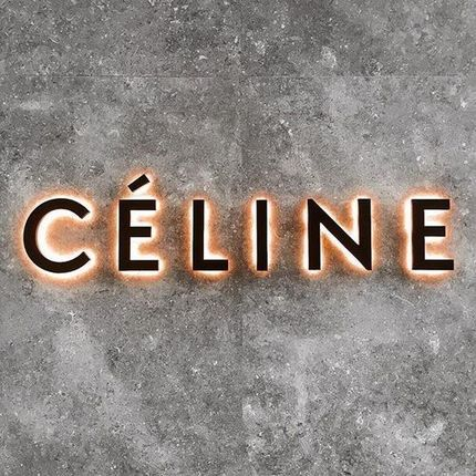 """Direct to wall 2D Letters with the """"Celine"""" sign"""