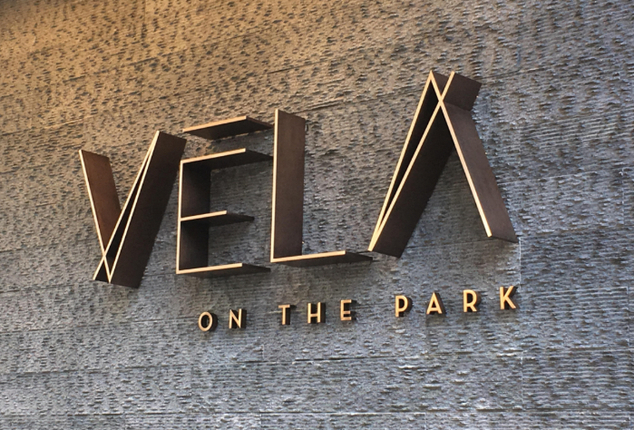 """Direct to wall 2D Letters with the """"Vela"""" sign"""