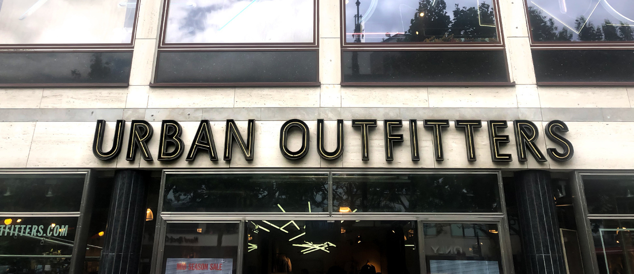 3D Letters with the Urban Outfitters signs