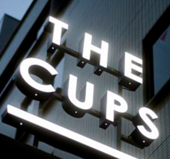 """""""The Cups"""" 3D Letters sign"""