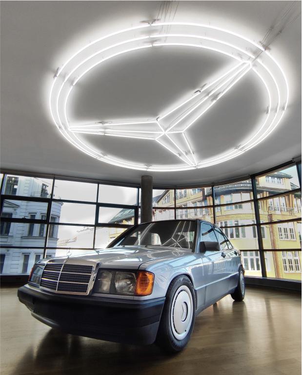 Mercedes Individuelles Neon Schild